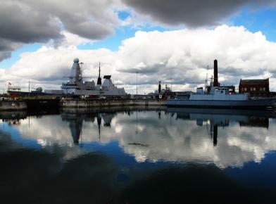 Deep reflected navy