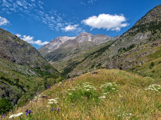 Magnificent views towards Vignemale from the Bujarelo valley in the Pyrenees